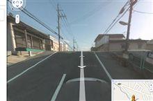 グーグルのストリートビューに奈良の我が家が見えた。
