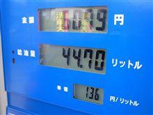 燃費の記録簿(157回目)