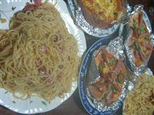 手作りピザ&パスタな夕飯