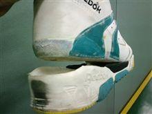 靴も大破してました