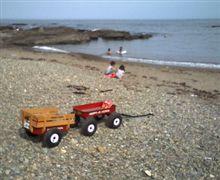 洗車と海とラジオフライヤー