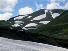 白鳥の雪渓