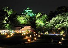 夜の岡山後楽園