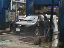 水圧洗車手洗い付き