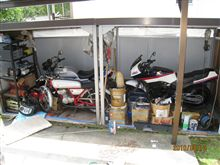 バイク小屋改装。