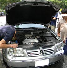 ★猛暑で車の故障、パンクが急増だそうですよ!BORAご静養です!(^^♪