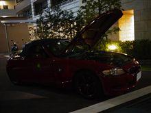 深夜の洗車