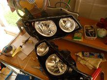 またもやダンクのイカリングヘッドライトを製作中デス