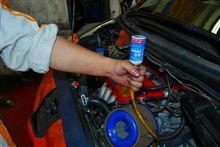 エアコン添加剤強制注入