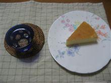 今日の酒の肴☆チーズケーキ