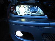 E46 ヘッドライト交換 HID