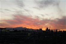 綺麗な夕日が後押ししてくれました