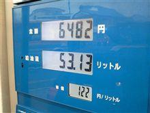 燃費の記録簿(166回目)