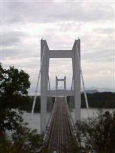 真正面から見た瀬戸大橋
