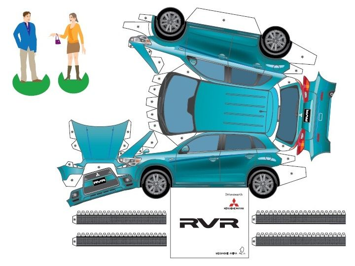 「mitsubishi Asx Papercrafts : Czech Republic ・・・・」アクア ランサー
