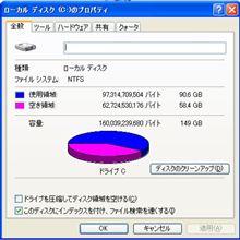 ハードディスク容量が・・