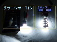 Grazio&Co.高輝度LEDバルブ T16 点灯