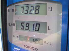 燃費の記録簿(167回目)
