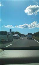 渋滞ですね(-_-)