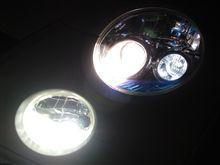 爆光~♪ 39発LEDのポジション球でコペンのフェイスアップ@\630~