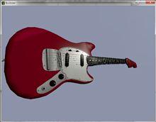 A2Dance けいおん 梓仕様ギター Fender Mustang WIP
