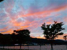 夕日がっ(⌒~⌒)