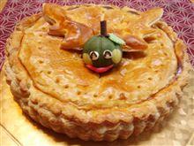 今月のケーキ、パンプキンパイ(^O^)