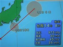 台風 接近中