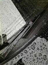 雨なので...