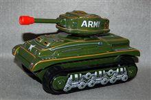 野村トーイ、ブリキ製電動走行 アーミータンクM-48、