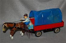 中華製ブリキ玩具、電動走行 幌馬車