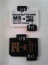SDA-1800 メモリースティックDuo変換microSD×2枚アダプター