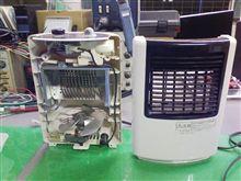 電気ファンヒーター。