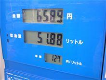 燃費の記録簿(168回目)