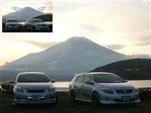 富士山に天使の羽