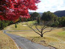 紅葉とゴルフ