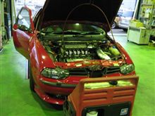 メンテナンスは大事...スナッポンドクターカーボン..アルファロメオ156 V6