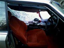 レーシングスポーツで車中泊!