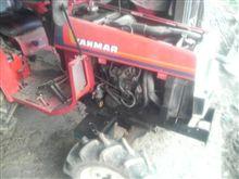 トラクターのオイル交換