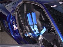 ノーマルシート改セミバケットシートと4点式シートベルト装着