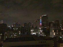 東京出張で会社の近くのホテルから東京タワー