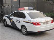 上海のパトカー
