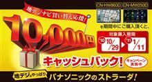パナソニック1万円キャッシュバックキャンペーン