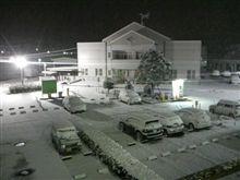雪が積もってる~