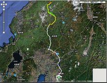 GPSロガーによる走行ルート