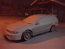雪降ってるw