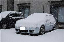 雪が。。。。。ww