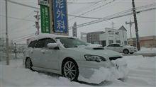 大雪の中・・・