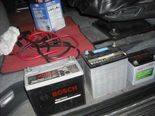バッテリー&オイル交換