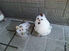 今年の雪だるま